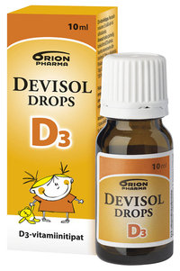 Devisol Drops D3-vitamiinitipat 10 ml