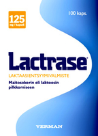 Lactrase a lactase enzyme  30 or 100 capsules