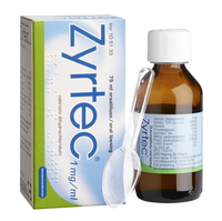 ZYRTEC 1 mg/ml allergialääkeliuos 75 ml