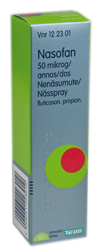NASOFAN 50 mikrog/dos spray for nose 60 doses