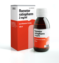 ROMETOR ratiopharm 2mg/ml oraaliliuos 125 ml