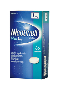 NICOTINELL MINT 1 mg 36 imeskelytablettia