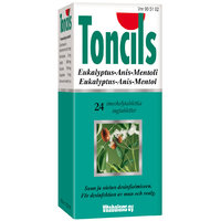 TONCILS Eukalyptus, Lemon or Black currant 24 tablets