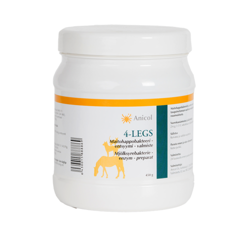 4-legs lactic acid bacteria + enzyme 450 g for animals