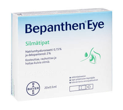 OFFER Bepanthen Eye silmätipat 20 ja 40 x 0,5 ml