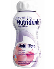 Nutridrink Multi Fibre 4 x 200 ml oral nutritional supplement, several flavours