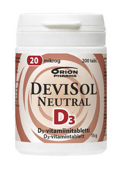 OFFER Devisol Neutral 20 µg 200 tablettia
