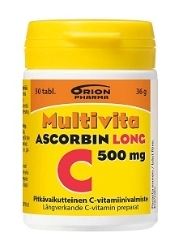 OFFER Multivita Ascorbin Long 500 mg 50, 100 tai 200 tabl