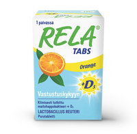 Relatabs + D3 10 µg Orange 30 tablettia