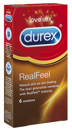 OFFER Durex Real Feel Latex free condoms 6 pc.