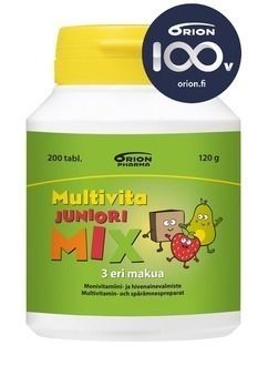Multivita Junior Mix 200 tablets