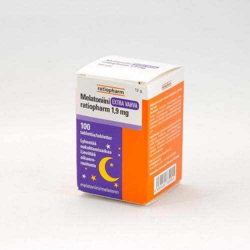 Melatonin Extra Strong Ratiopharm 1,9 mg 100 tablets