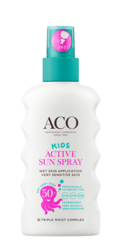 ACO SUN KIDS ACTIVE SUN SPRAY SPF 50+ aurinkosuijasuihke 175 ml