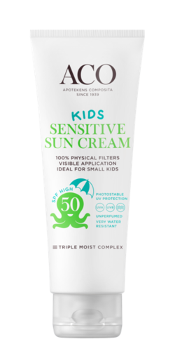 ACO SUN KIDS SENSITIVE SUN CREAM SPF 50 aurinkovoide 125 ml