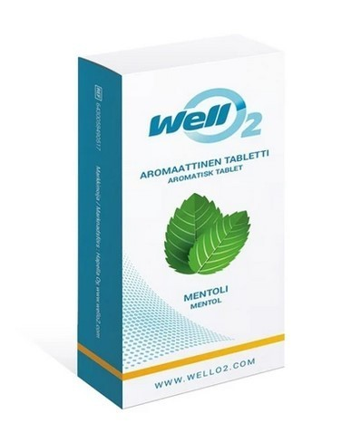 WellO2 Menthol tablets 20 pc