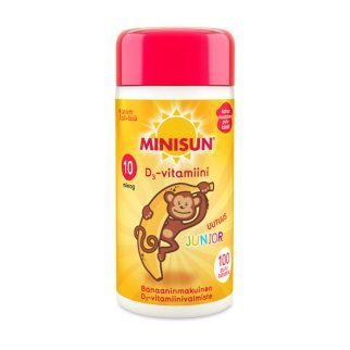 OFFER Minisun D-vitamiini 10 mikrog Junior Apina 100 tablettia