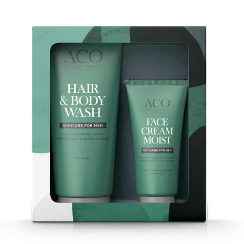 ACO For Men Body Wash 200 ml & Face Cream 60 ml lahjapakkaus