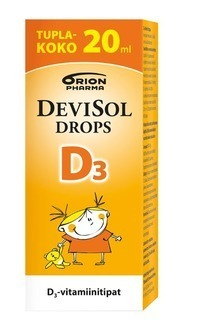 Devisol Drops D-vitamin Double Pack 20 ml